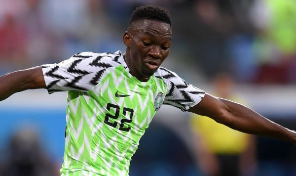 Nigeria player Kenneth Omeruo in Africa Cup of Nations Egypt 2019 match - Sports Leo