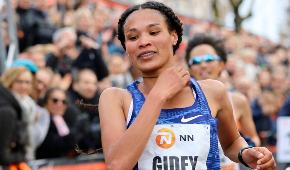 Ethiopia's Gidey sets new women's record in 15km in Netherlands