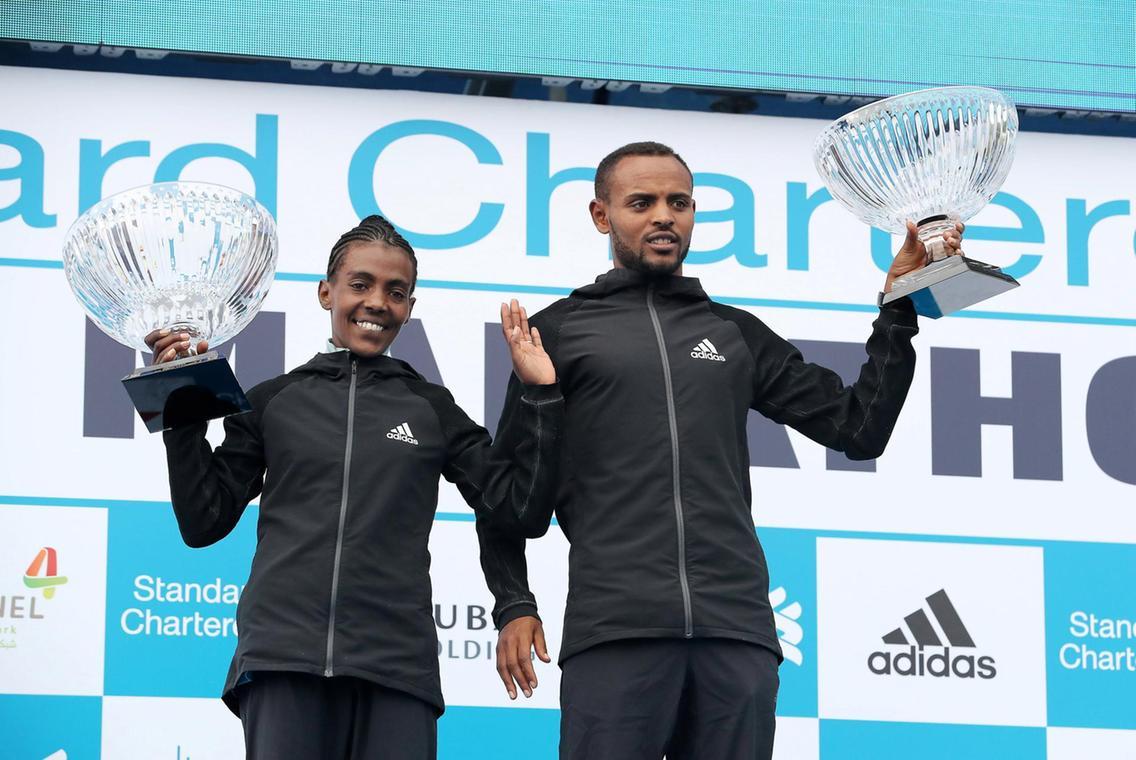 Ethiopian Worknesh Degefa dominates Dubai Marathon - Sports Leo