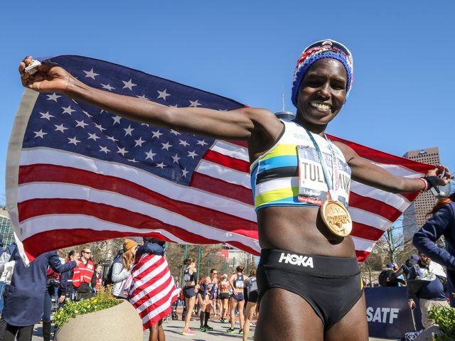 Kenyan-born wins US women's marathon Olympic qualifier - Sports Leo
