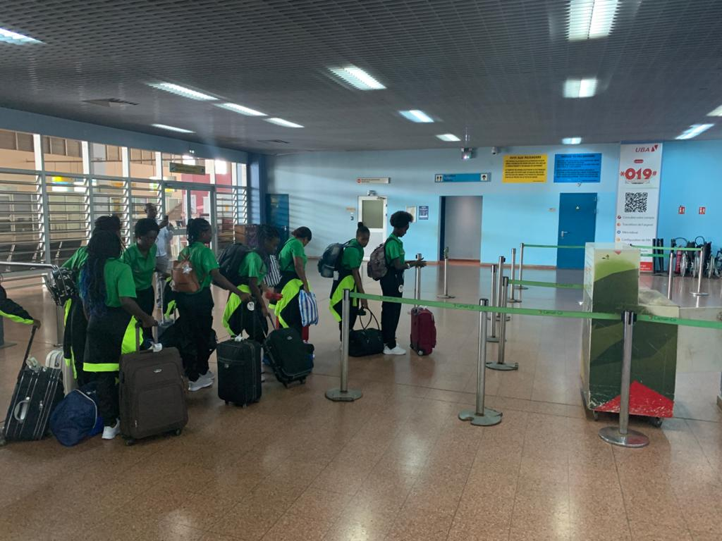 Sao Tome Under-17 Women's return home from Cameroon - Sports Leo