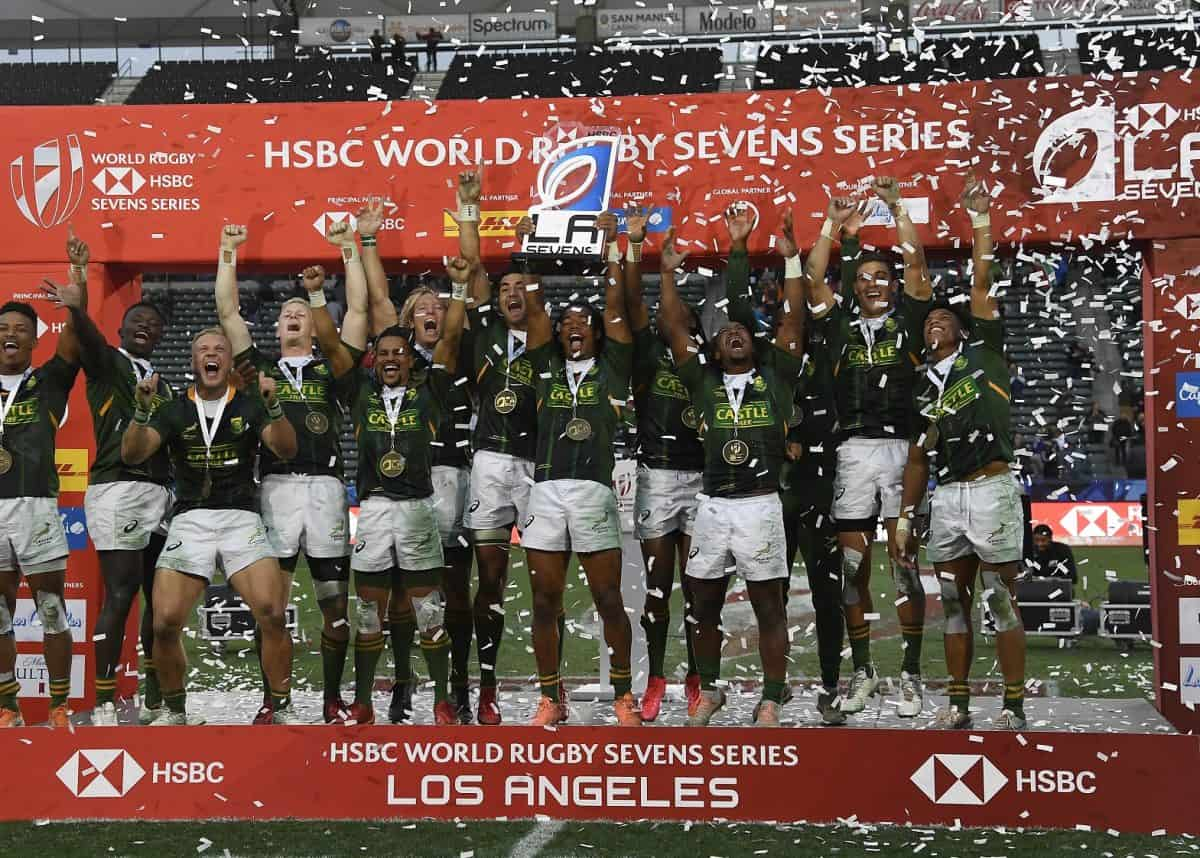 Springbok Sevens claim 29-24 win over Fiji in LA Sevens final - Sports Leo