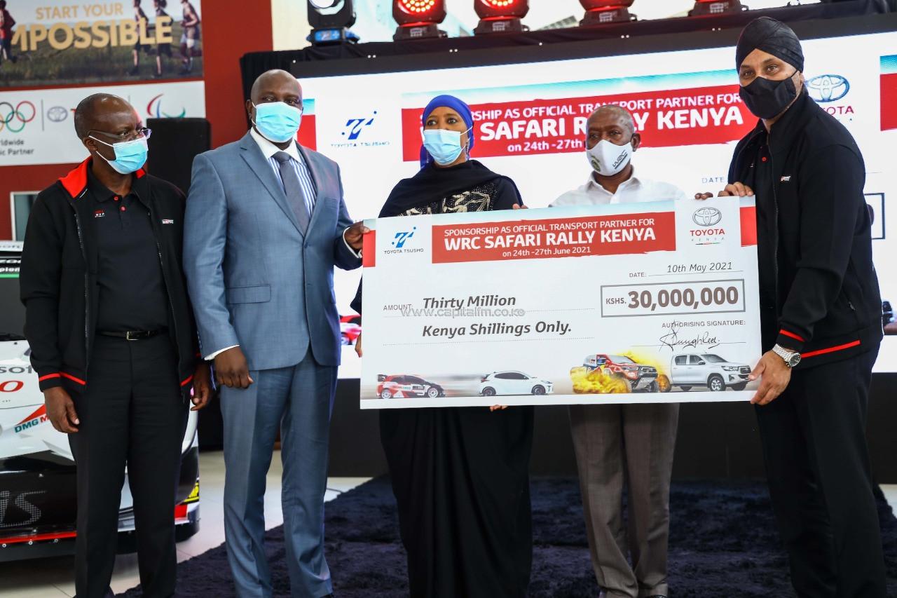 Toyota Kenya injects $281,188 towards WRC Safari Rally event