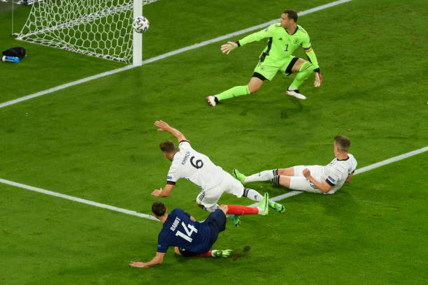 Adrien Rabiot came close to extending France leads over Germany in UEFA EURO 2020