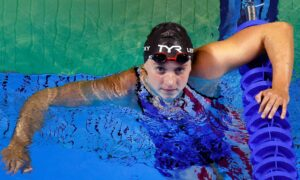 Katie Ledecky wins her first gold medal