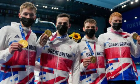 Great Britain won gold in relay