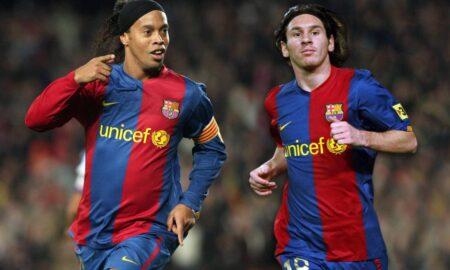 Ronaldinho begs Messi to stay