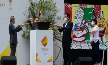 Paralympic Flames installed in Tokyo