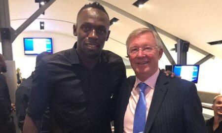 Usain Bolt with Sir Alex Ferguson