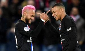 Mbappe with Neymar