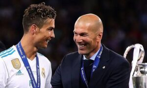 Cristiano Ronaldo with Zinediene Zidane